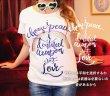 画像1: Love&Peace【愛と平和】ネイビーラメ文字×ラメ虹Tシャツ (1)
