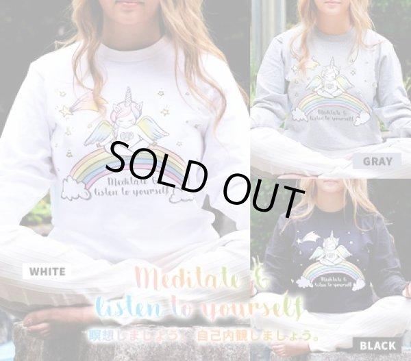 画像1: 2018秋新作「瞑想&自己内観ペガコ☆ロングTシャツ」3色展開 (1)
