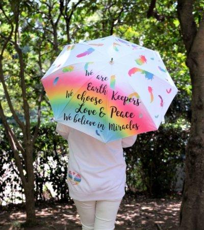 画像1: 【梅雨の特別キャンペーン】LOVE&PEACE雨晴兼用傘☆8,888円➡6,666円!!