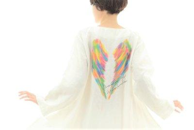 画像2: レインボーエンジェルズ♡虹色の羽の麻ワンピース【初回受注のみ送料無料】